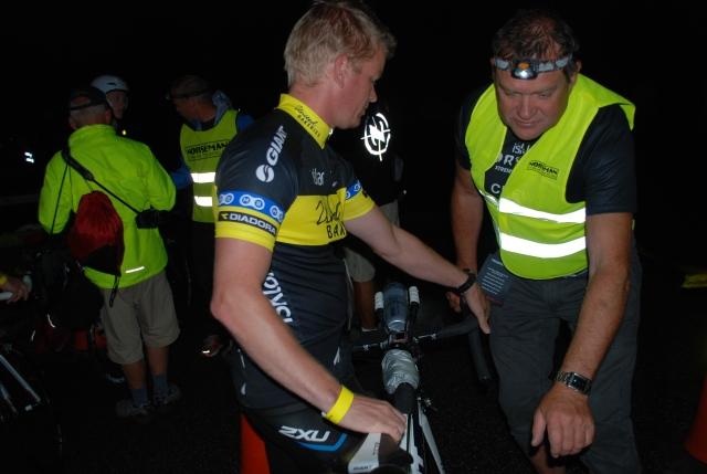 Bremsesjekk før sykkelen settes i T1