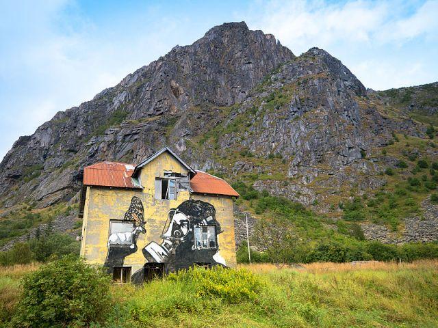 Ganske kult prosjekt av Pøbel street art.